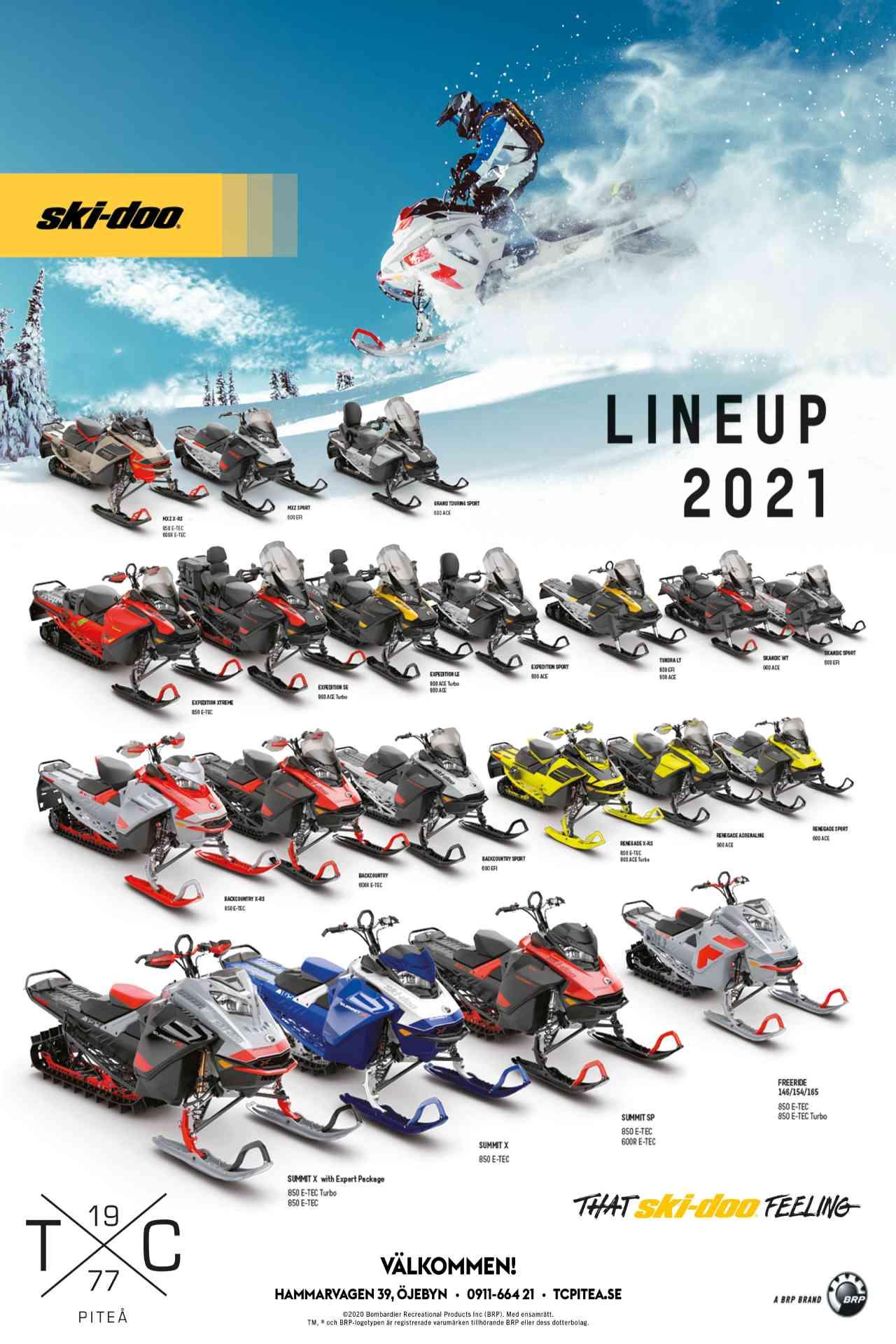 ski-doo lineup 2021 snöskoter