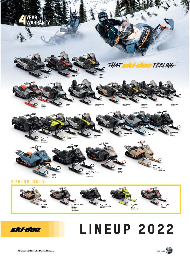 ski-doo snöskoter 2022